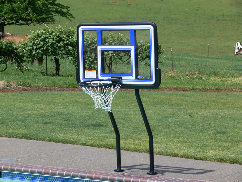 Huffy In Ground Pool Basketball Hoop Round Designs